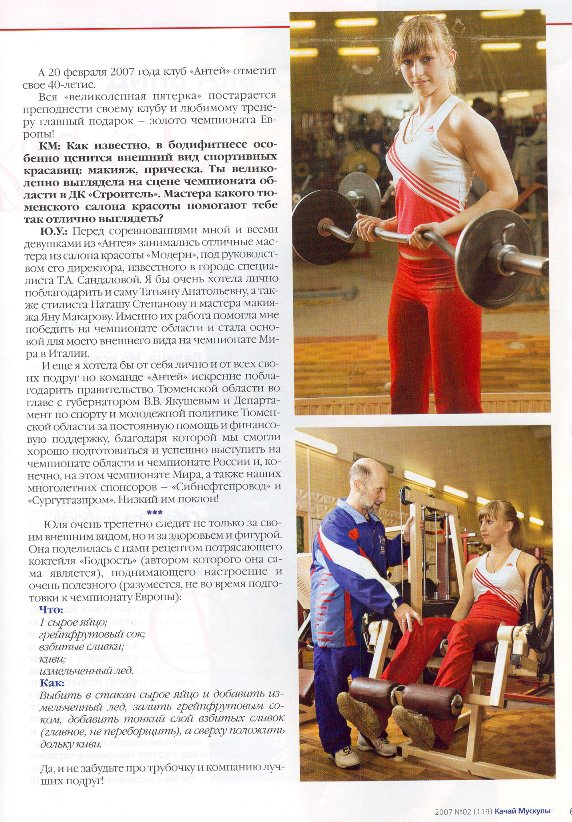 Yulia Ushakova Muscles